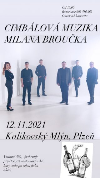 Svatomartinská husa s cimbálovkou Milana Broučka